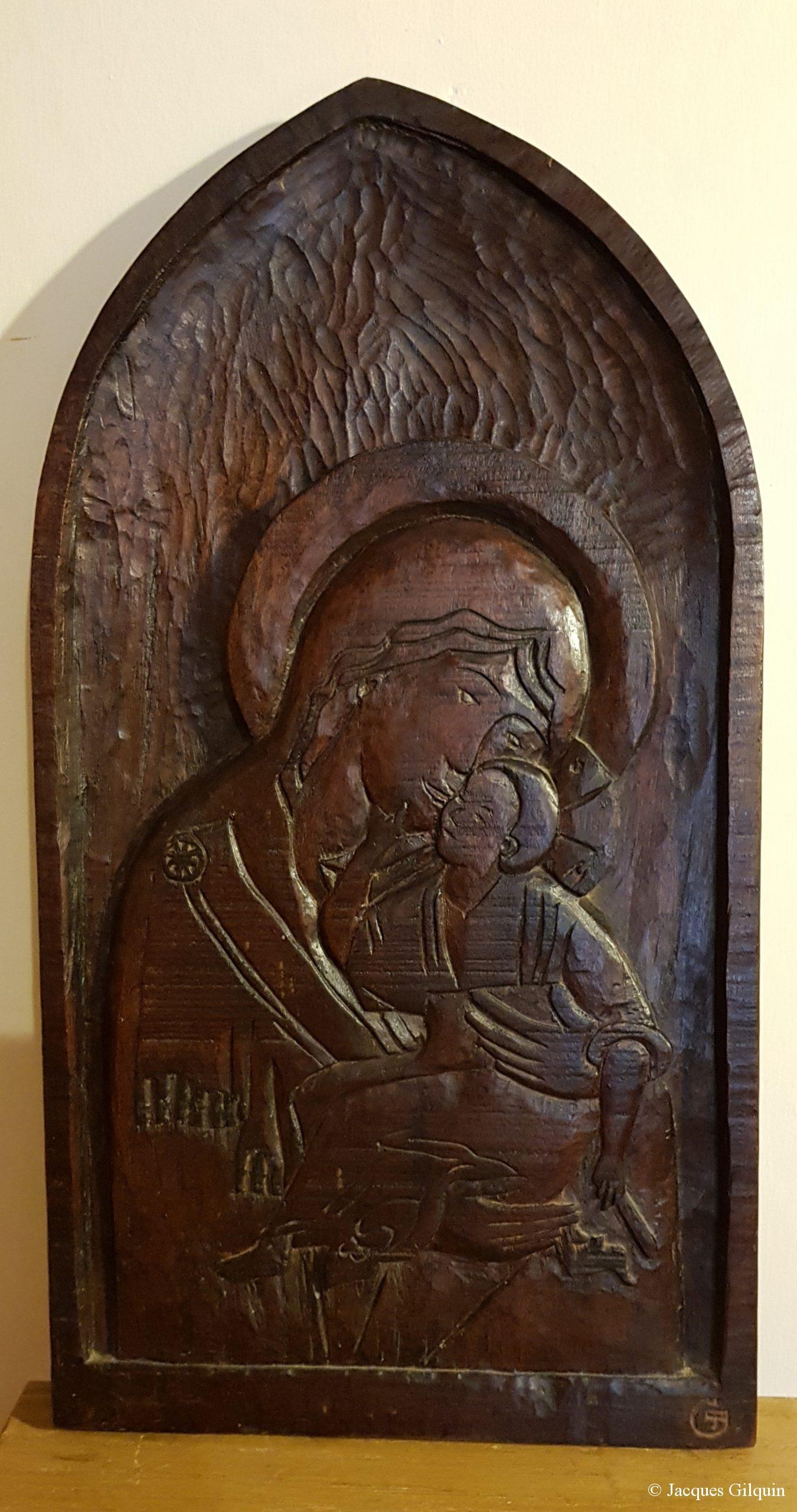 Vierge à l'enfant d'après une icône russe